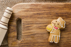 Cookies in the shape of man Royalty Free Stock Image