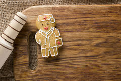 Cookies in the shape of man Royalty Free Stock Images
