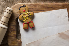 Cookies in the shape of man Stock Photography