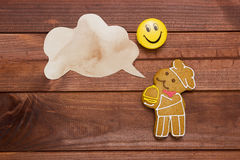 Cookies in the shape of man Stock Photos