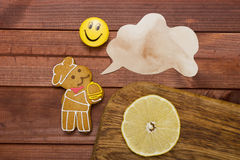 Cookies in the shape of man Stock Image