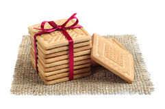 Cookies in the shape of a square Royalty Free Stock Photo