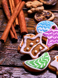 Cookies in the shape of stars, crescents. Stock Images