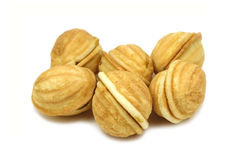Cookies in the shape of a walnut Stock Images