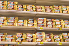Cookies on  shelves Royalty Free Stock Photos