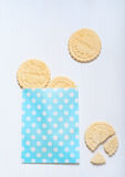 Cookies of shortcrust pastry on the table Royalty Free Stock Photos