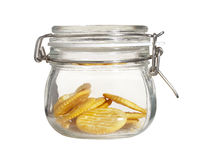 Cookies in shot bottle Royalty Free Stock Photo