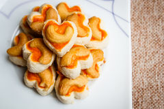 Cookies Singapore or cashew Cookies. royalty free stock photo
