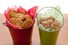 Cookies in small buckets. Stock Photo