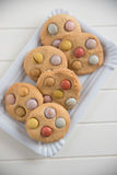 Cookies with smarties Royalty Free Stock Images