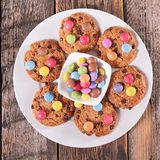 Cookies with smarties Stock Images