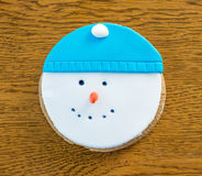 Cookies snowman Stock Images