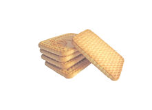 Cookies. Some tiles cookies are presented on a white background Royalty Free Stock Image