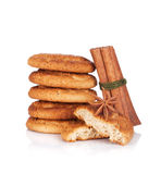 Cookies with spices Royalty Free Stock Photo