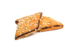 Cookies sprinkled with sesame seeds Stock Photos