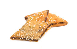 Cookies sprinkled with sesame seeds Stock Image