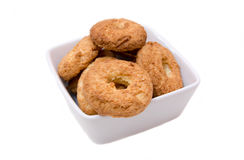 Cookies on square bowl Royalty Free Stock Photography