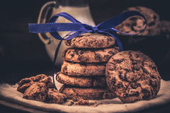 Cookies in the stack Stock Photo