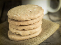 Cookies stack on napkin Stock Image
