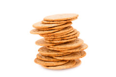 Cookies. Stack of round cookies isolated on white background Stock Image