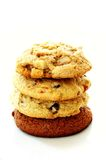 Cookies stacked in pile Royalty Free Stock Image
