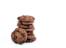 The Cookies. The Stacked Cookies On White Royalty Free Stock Images