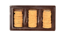 Cookies stand in a  box Royalty Free Stock Photos