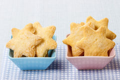 Cookies in star shape Stock Photos