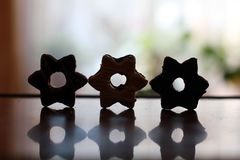 Cookies stars. Cookies in the shape of stars Stock Photos