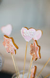 Cookies on stick with number 2015 Stock Images