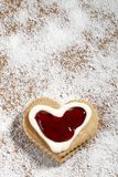 Cookies. Studio environment photographed heart-shaped cookies Stock Photo