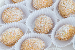 Cookies with sugar closeup. Royalty Free Stock Images