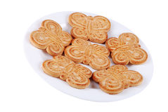 Cookies with sugar on a plate Stock Photography
