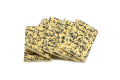 Cookies with sugar and poppy seeds Royalty Free Stock Photo