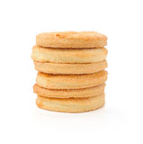 Cookies with sugar  on white Royalty Free Stock Image