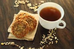 Cookies with sunflower seeds Royalty Free Stock Images