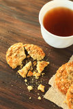 Cookies with sunflower seeds Royalty Free Stock Photo