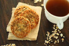 Cookies with sunflower seeds Stock Image