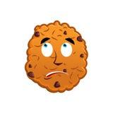 Cookies surprised Emoji. biscuit emotion astonished. Food Isolat vector illustration