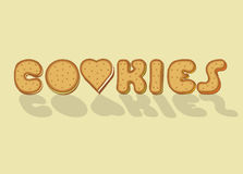Cookies. Sweet artistic font Stock Photo