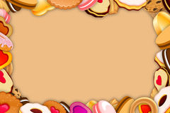 Cookies and sweets Frame Royalty Free Stock Photography