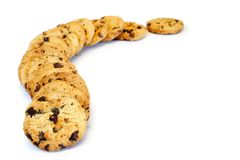Cookies swirl royalty free stock photo