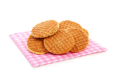 Cookies with syrup, typical Dutch stroopwafels Royalty Free Stock Photo