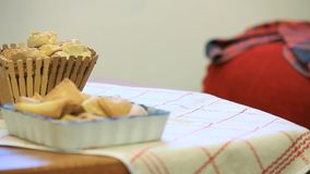 Cookies On The Table stock footage