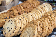 Cookies. Tasty cookies with chocolate chips Stock Photography