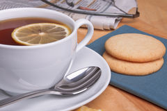 Cookies and tea Stock Photo