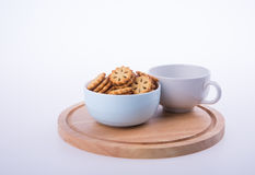 cookies or Tea and cookies on background. Stock Image