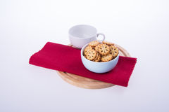 cookies or Tea and cookies on background. Stock Photos
