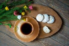 Cookies with tea stock photos