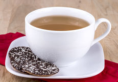 Cookies and tea stock photo
